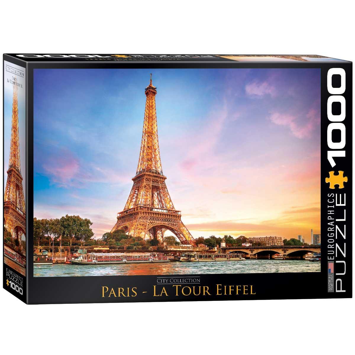 Puzzle Eurographics Torre Eiffel, París de 1000 Piezas