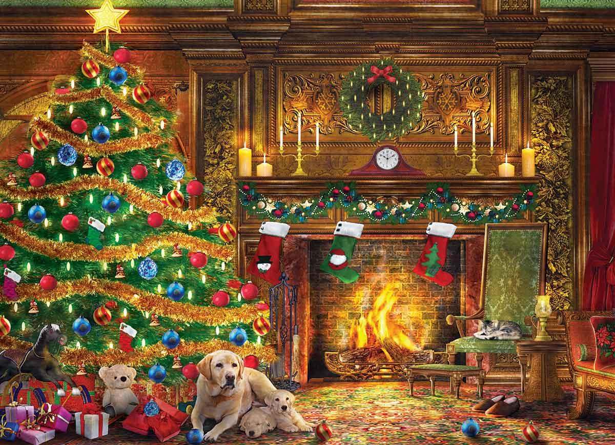 Puzzle Eurographics Labradores Festivos de 1000 Piezas