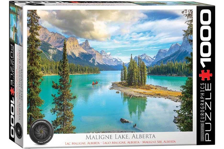 Puzzle Eurographics Lago Maligne, Alberta de 1000 Piezas