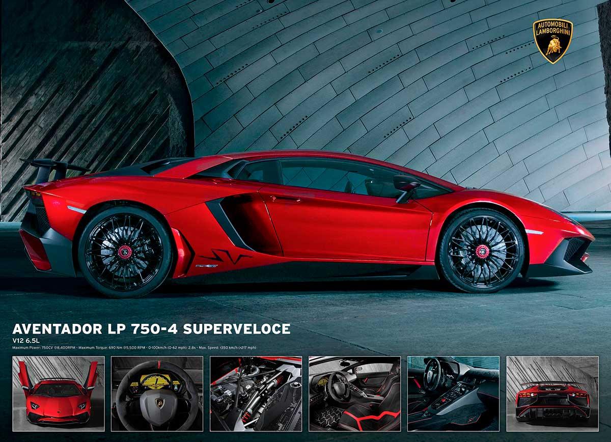 Puzzle Eurographics Lamborghini Aventador LP750-4, 1000 Piezas