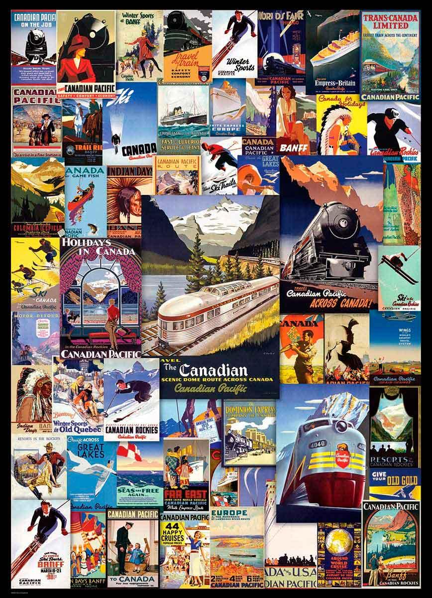 Puzzle Eurographics Las Aventuras del Ferrocarril de 1000 Piezas