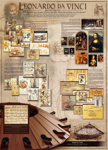 Puzzle Eurographics Leonardo Da Vinci de 1000 Piezas