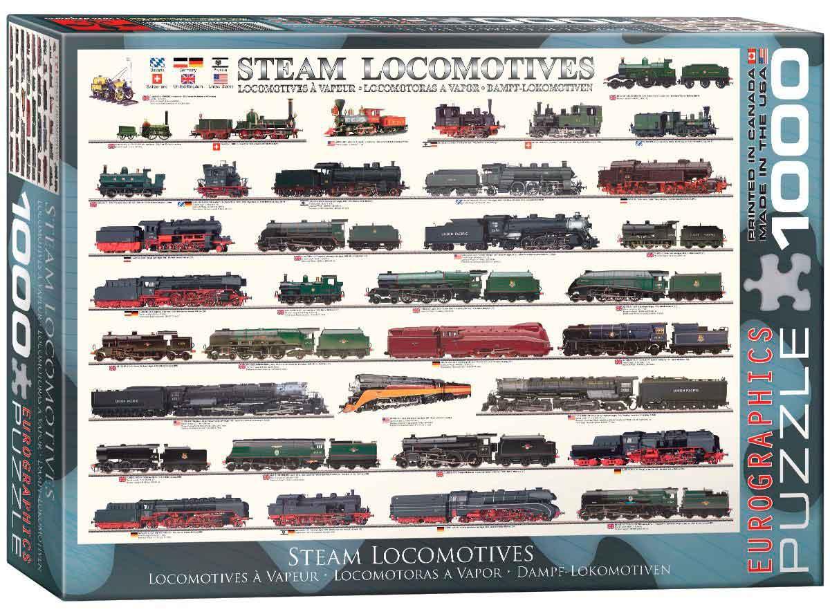 Puzzle Eurographics Locomotoras a Vapor de 1000 Piezas