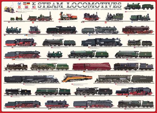 Puzzle Eurographics Locomotoras de Vapor de 1000 Piezas