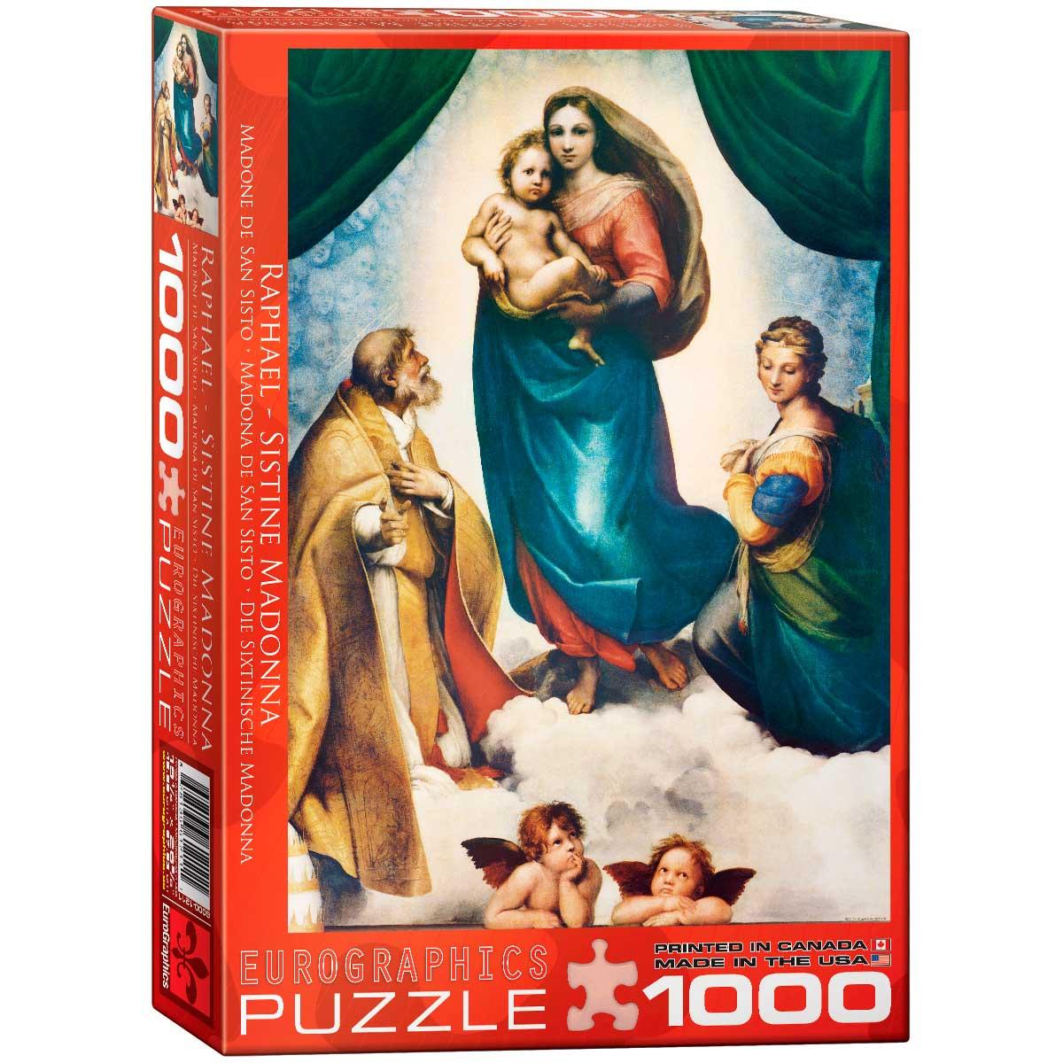 Puzzle Eurographics Madona de San Sisto de 1000 Piezas
