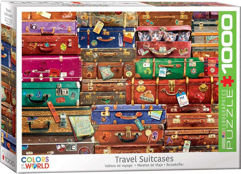 Puzzle Eurographics Maletas de Viajes de 1000 Piezas