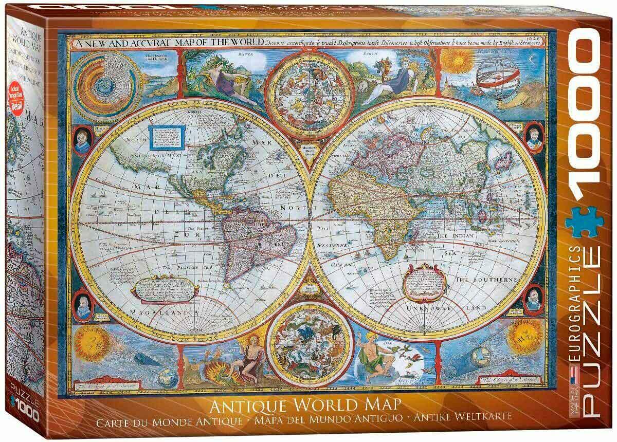 Puzzle Eurographics Mapa del Mundo Antiguo de 1000 Piezas