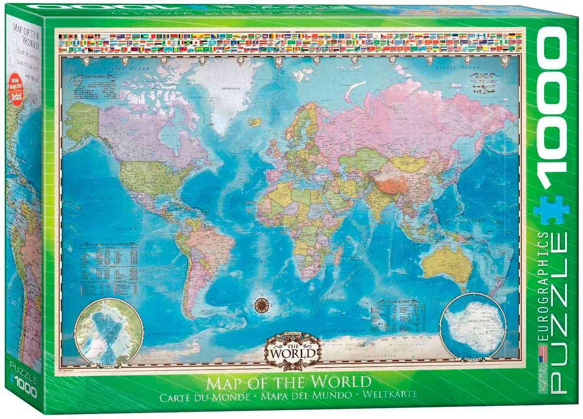 Puzzle Eurographics Mapa del Mundo de 1000 Piezas