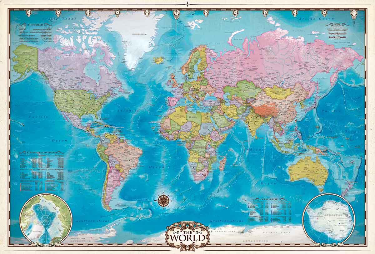 Puzzle Eurographics Mapa del Mundo de 2000 Piezas