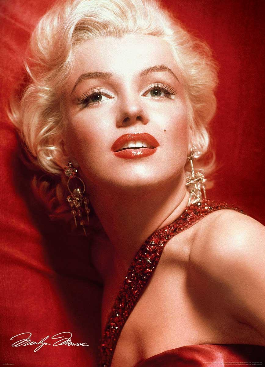Puzzle Eurographics Marilyn Monroe Retrato Rojo de 1000 Piezas