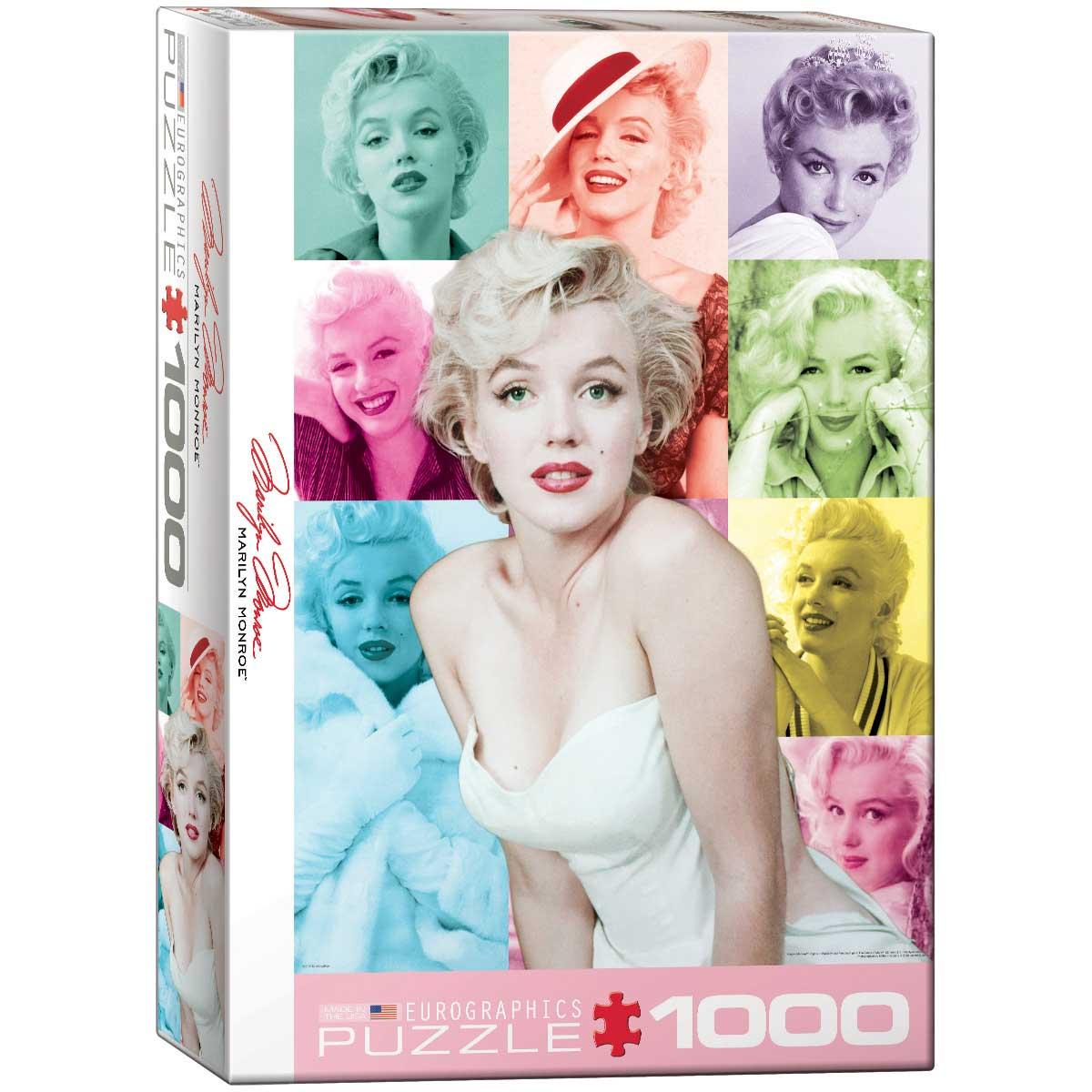 Puzzle Eurographics Marilyn Monroe Retratos a Color, 1000 Piezas