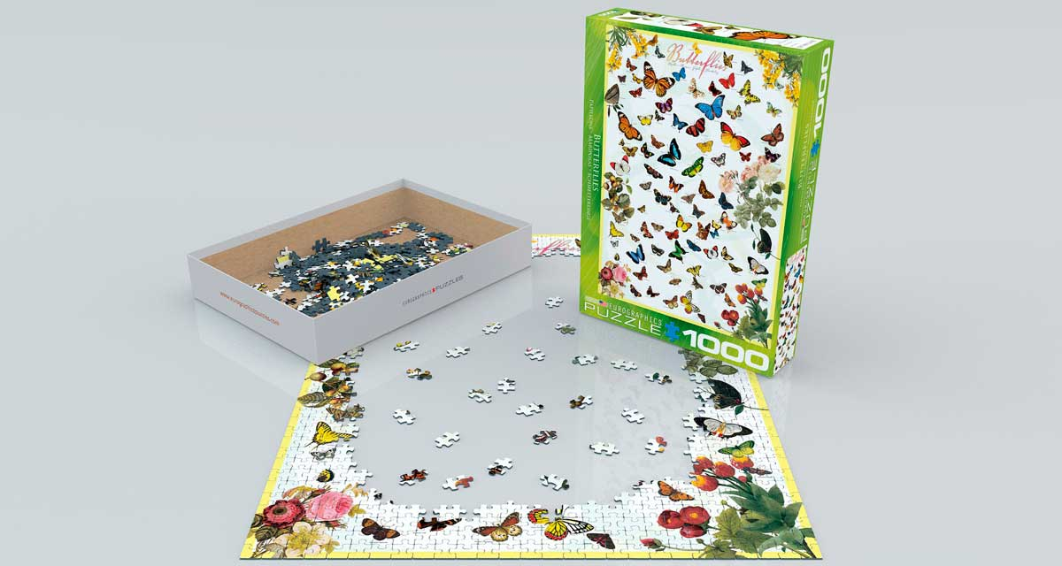 Puzzle Eurographics Mariposas de 1000 Piezas