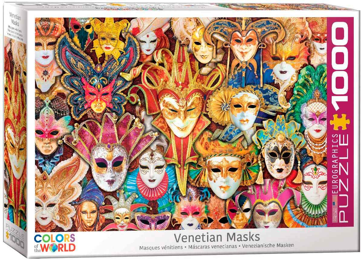Puzzle Eurographics Máscaras de Carnaval Veneciano 1000 Piezas