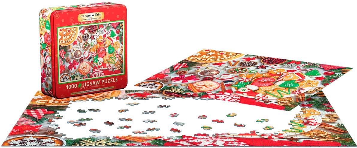 Puzzle Eurographics Mesa de Navidad, Lata de 1000 Pzs
