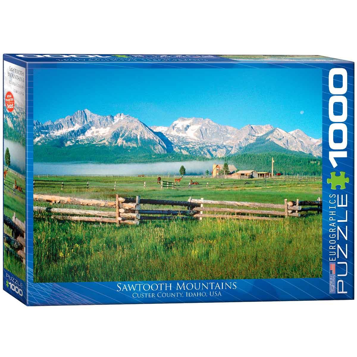 Puzzle Eurographics Montañas Diente de Sierra, Idaho 1000 Piezas