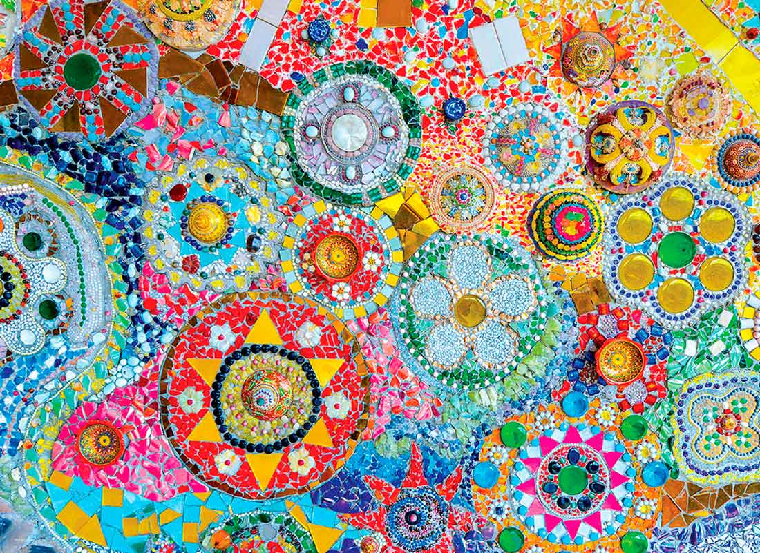 Puzzle Eurographics Mosaico Tailandés de 1000 Piezas