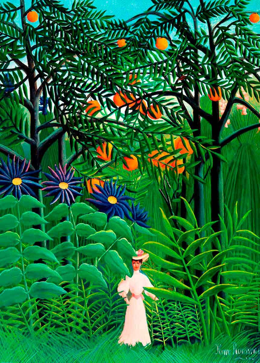 Puzzle Eurographics Mujer en un Exótico Bosque de 1000 Piezas