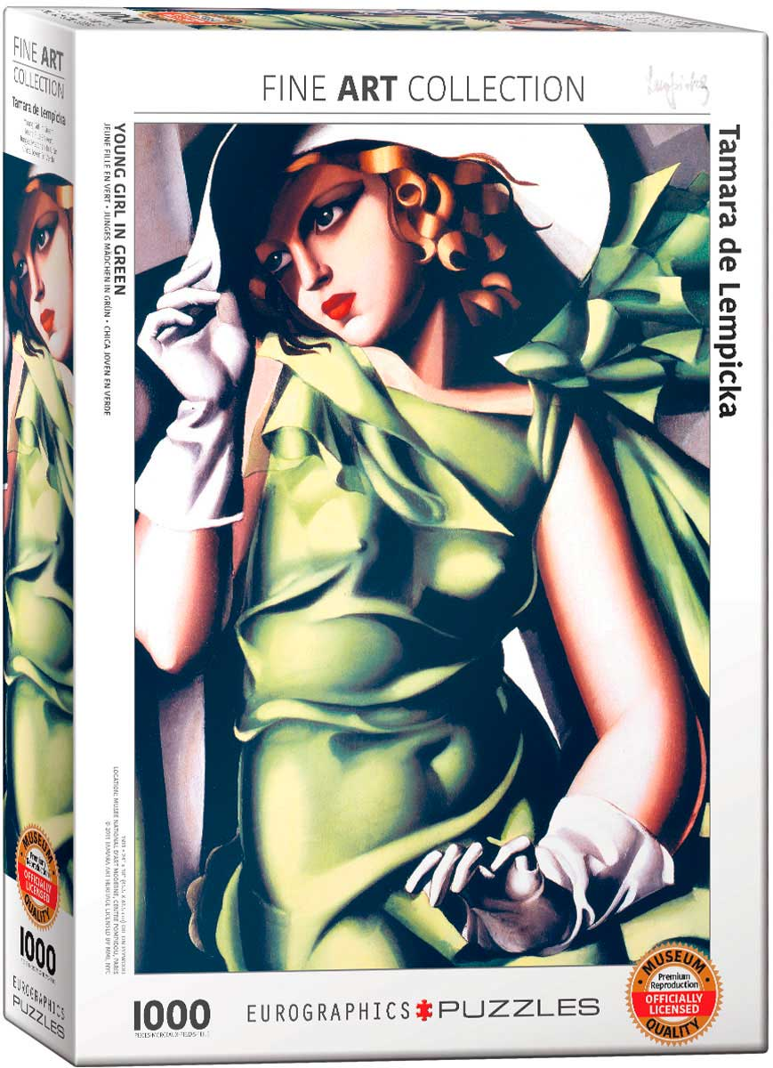 Puzzle Eurographics Mujer Vestida de Verde de 1000 Piezas