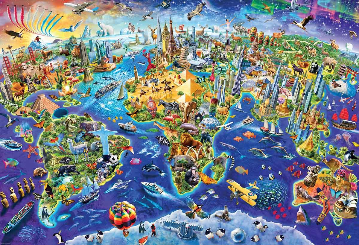 Puzzle Eurographics Mundo Loco de 2000 Piezas