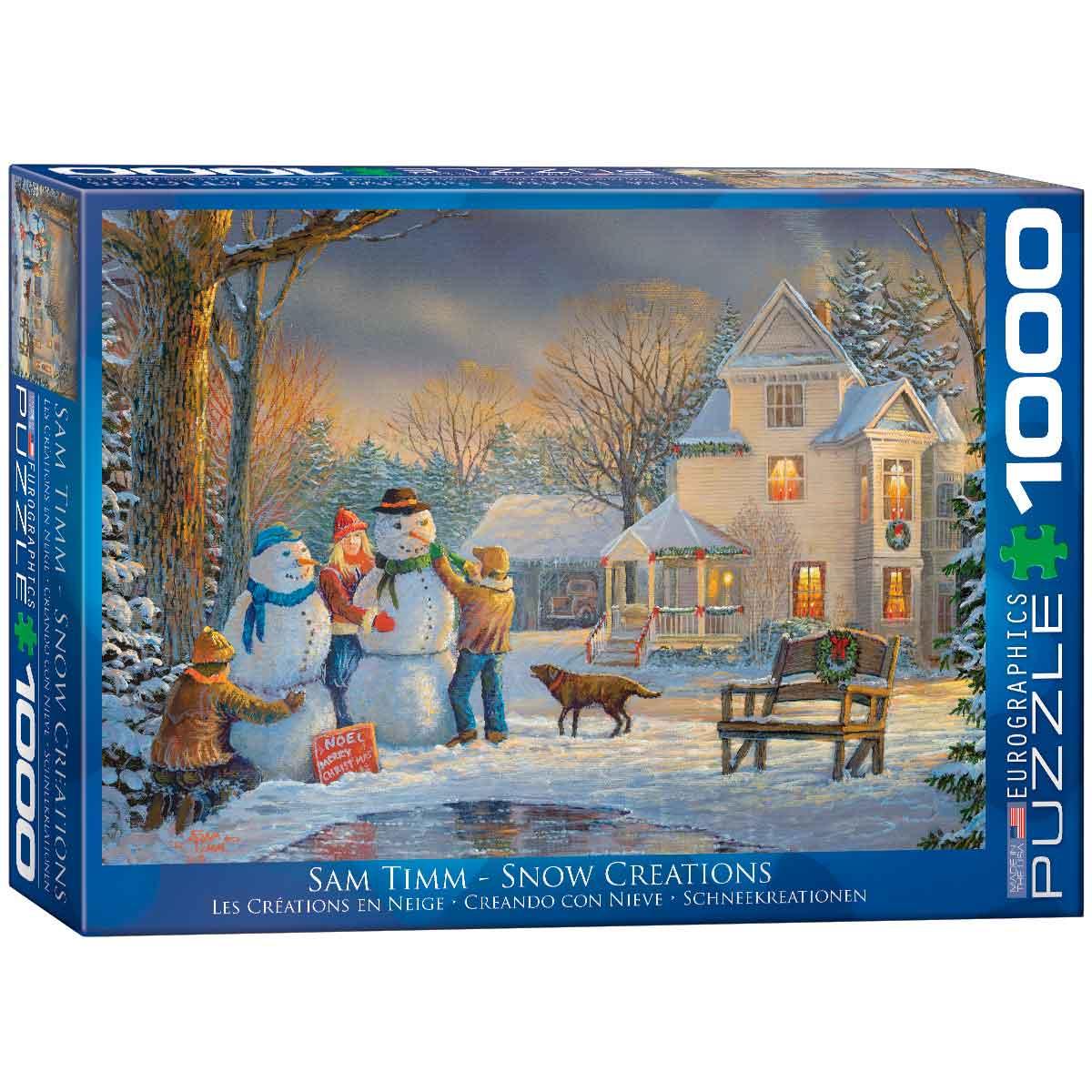 Puzzle Eurographics Muñecos de Nieve de 1000 Piezas