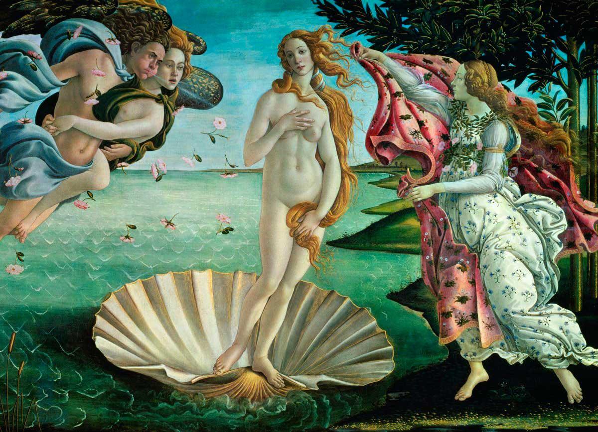Puzzle Eurographics Nacimiento de Venus de 1000 Piezas