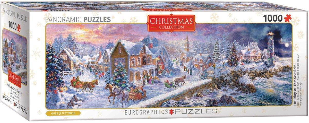 Puzzle Eurographics Navidad a Orillas del Mar de 1000 Piezas