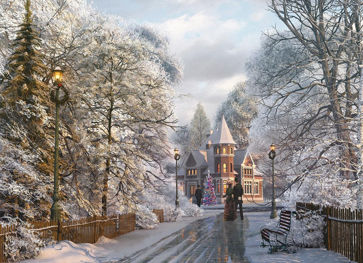Puzzle Eurographics Navidades en Nueva Inglaterra de 1000 Piezas