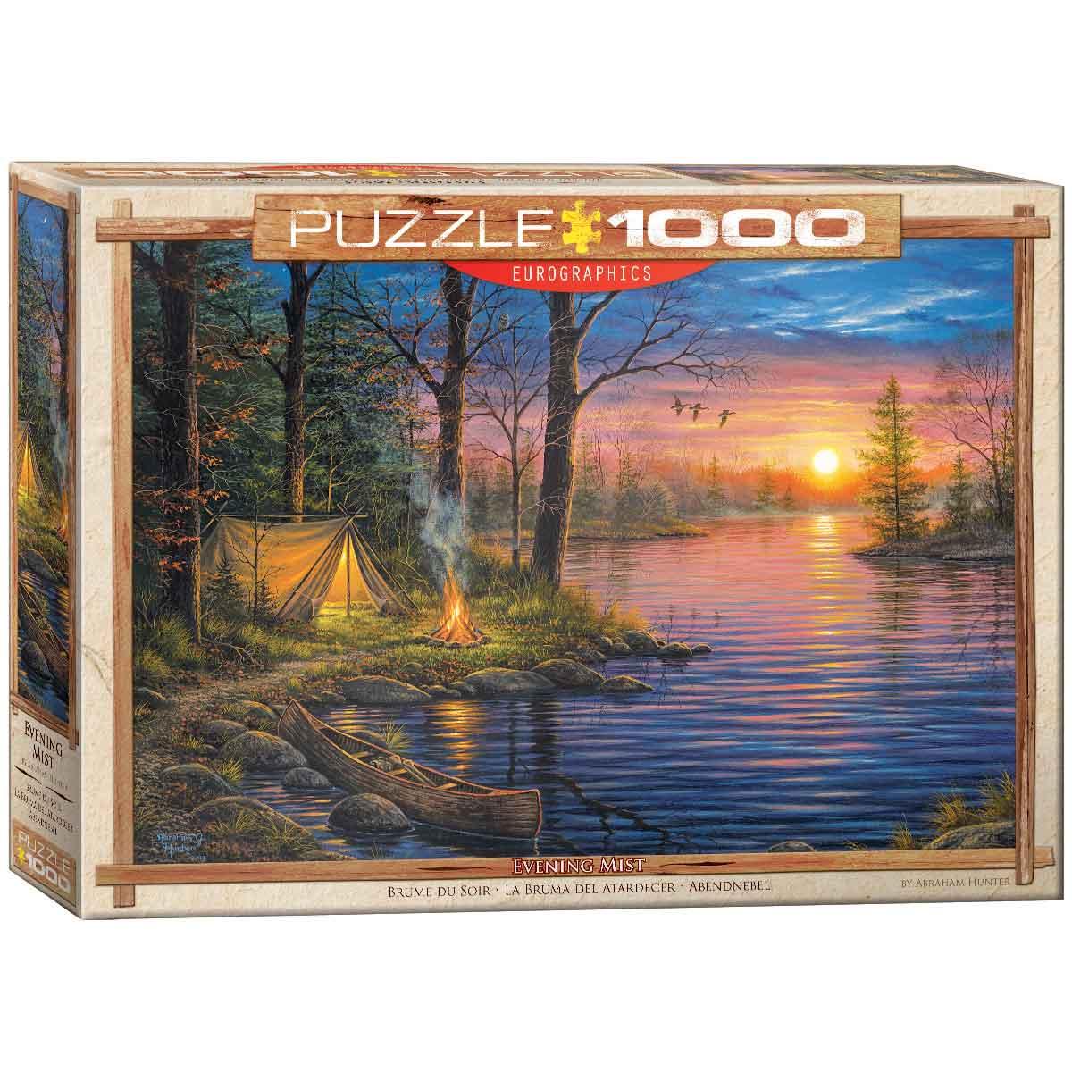 Puzzle Eurographics Niebla Verpertina de 1000 Piezas