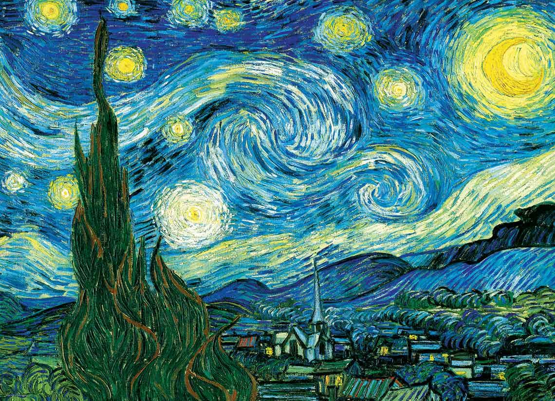 Puzzle Eurographics Noche Estrellada de 1000 Piezas
