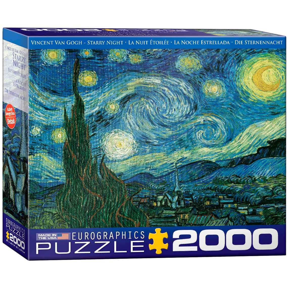 Puzzle Eurographics Noche Estrellada de 2000 Piezas