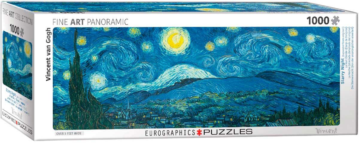 Puzzle Eurographics Panorámico Noche Estrellada, 1000 Piezas