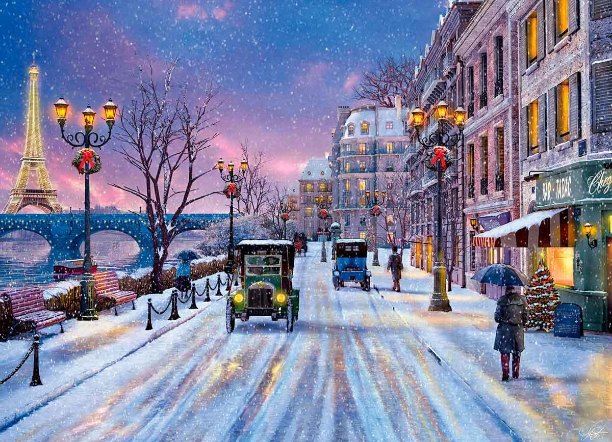 Puzzle Eurographics Nochebuena en París de 1000 Piezas