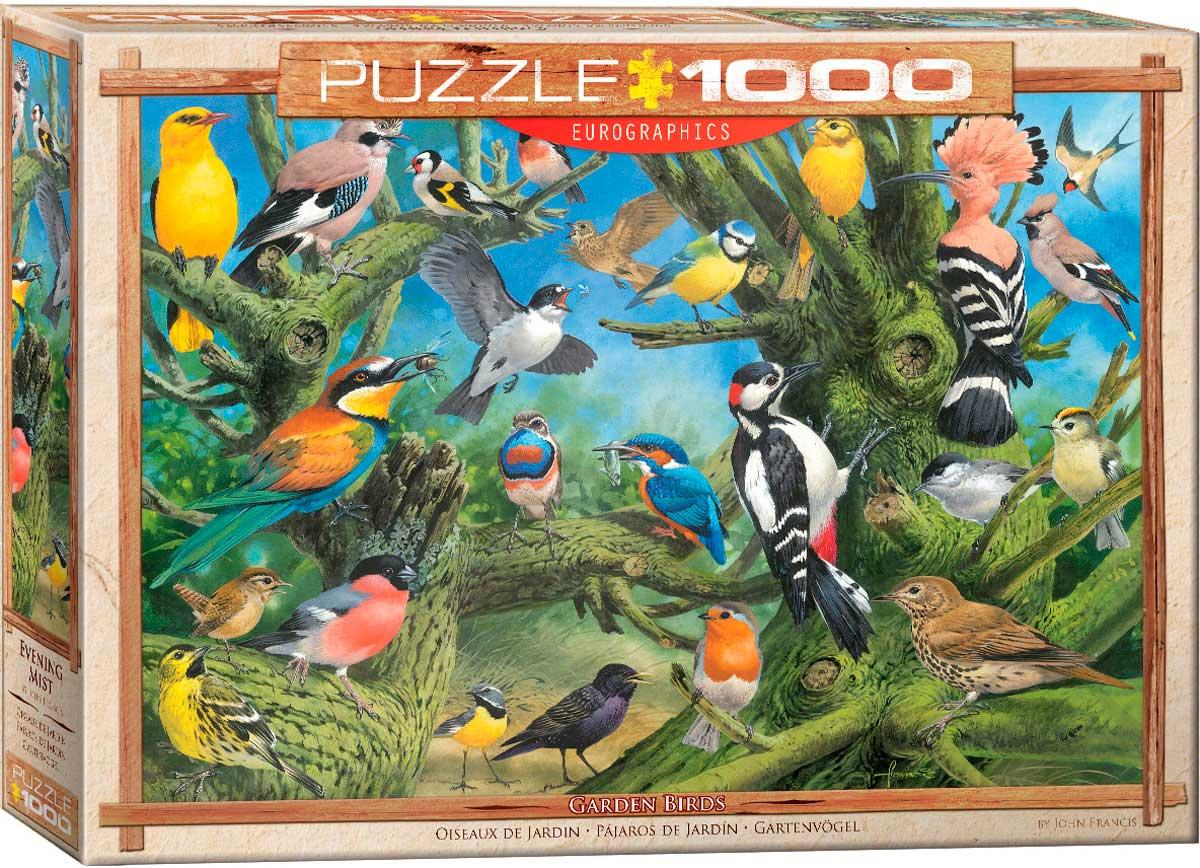 Puzzle Eurographics Pájaros de Jardín de 1000 Piezas