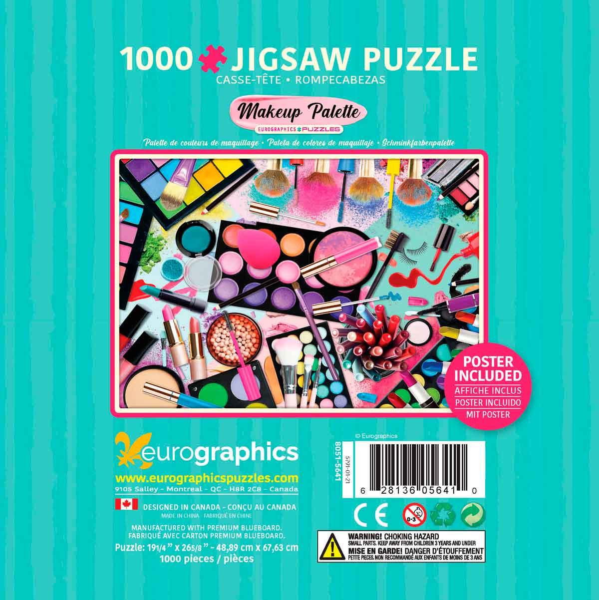 Puzzle Eurographics Paleta de Colores, Lata de 1000 Pzs