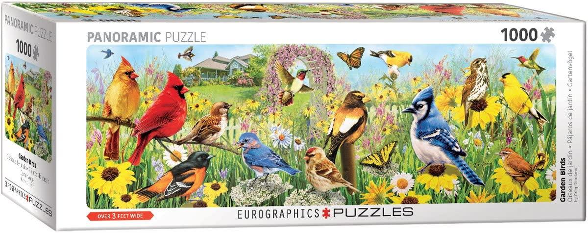 Puzzle Eurographics Panorama Pájaros de Jardín de 1000 Piezas