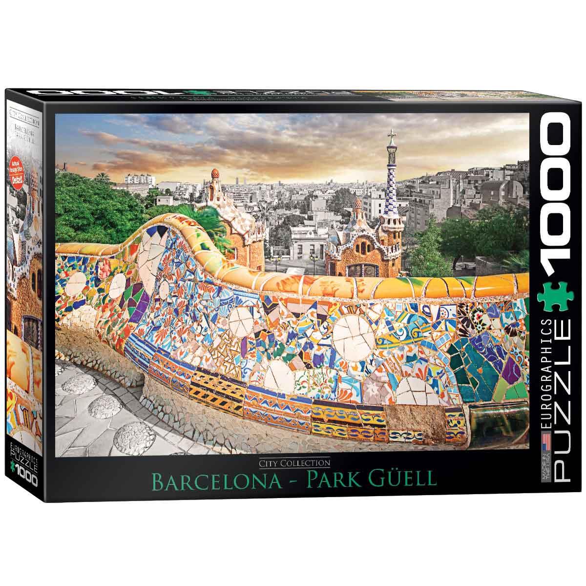 Puzzle Eurographics Parque Güell, Barcelona de 1000 Piezas