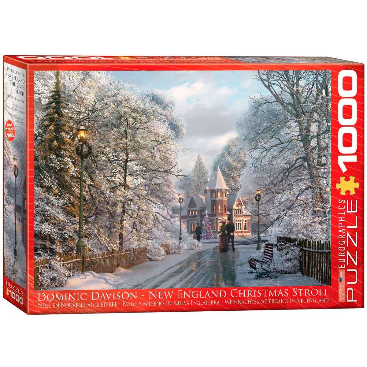 Puzzle Eurographics Paseo Navideño Nueva Inglaterra 1000 Piezas