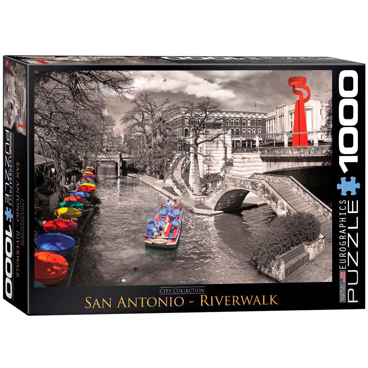 Puzzle Eurographics Paseo por Río San Antonio de 1000 Piezas