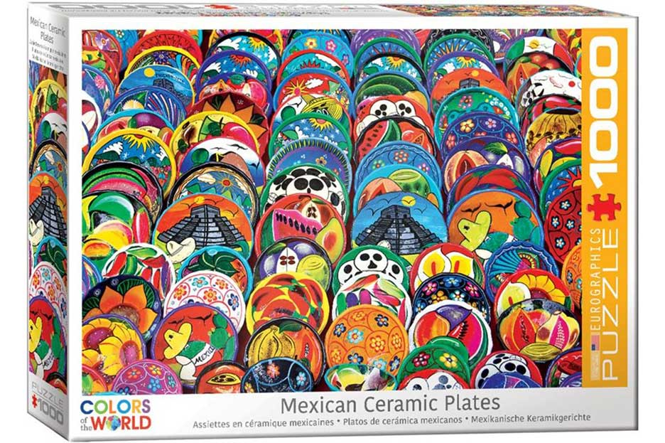 Puzzle Eurographics Platos de Cerámica Mejicanos 1000 Piezas