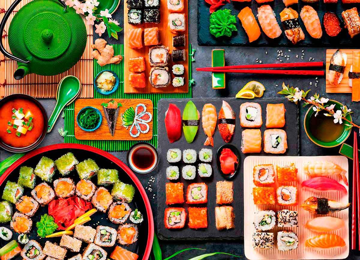 Puzzle Eurographics Mesa de Sushi de 1000 Piezas