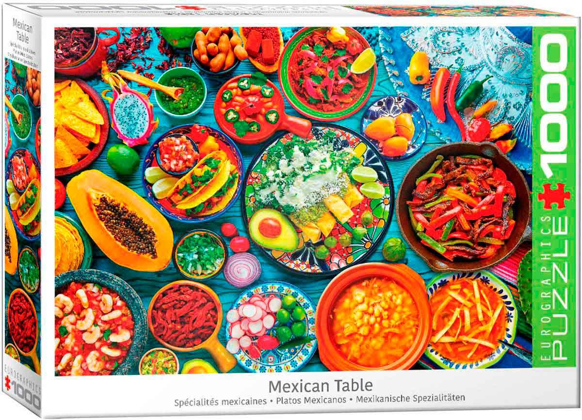 Puzzle Eurographics Platos Mejicanos de 1000 Piezas