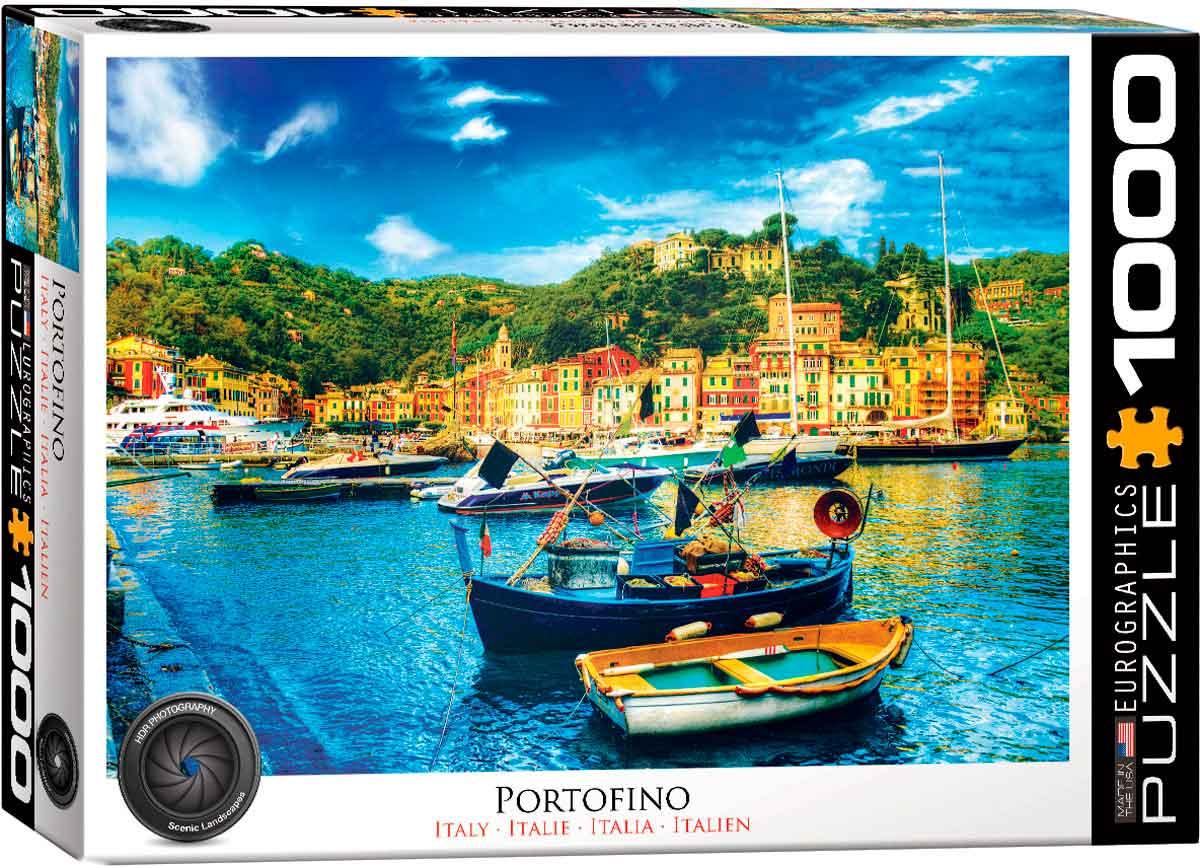 Puzzle Eurographics Portofino, Italia de 1000 Piezas