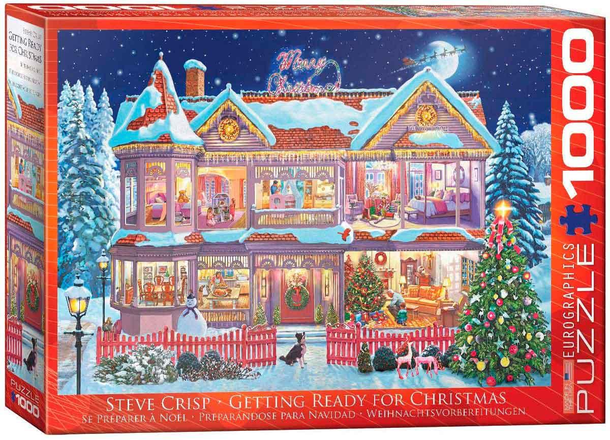Puzzle Eurographics Preparándose Para Navidad de 1000 Piezas