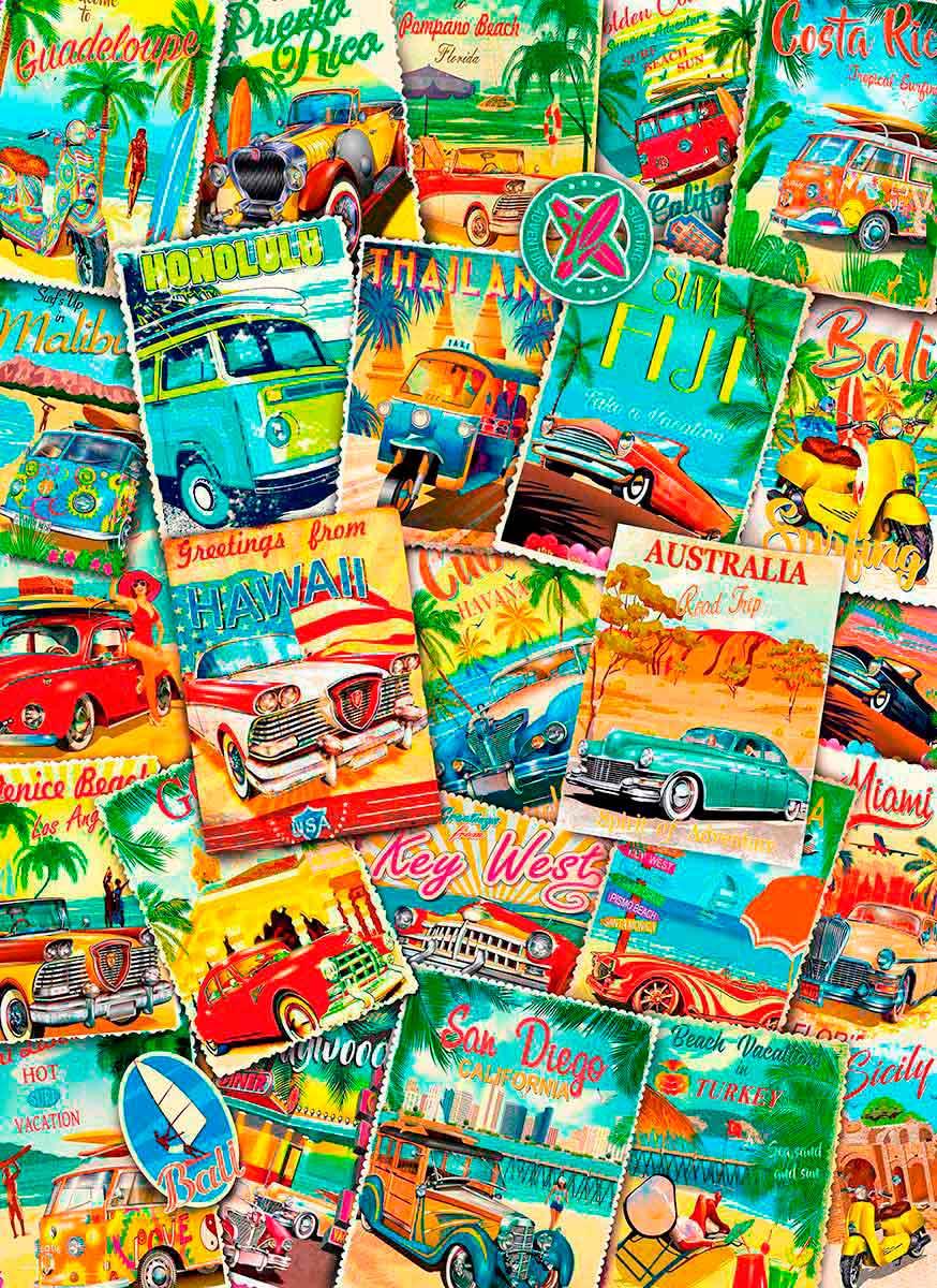 Puzzle Eurographics Publicidades Vintage de Viajes de 1000 Pieza