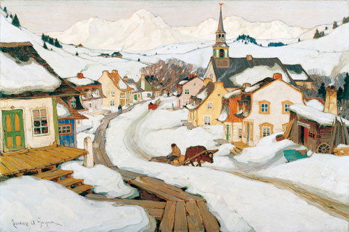 Puzzle Eurographics Pueblo en las Montañas de 1000 Piezas