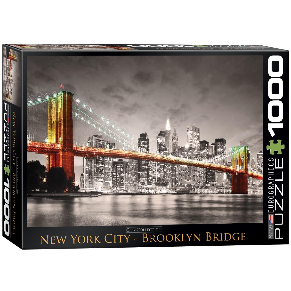 Puzzle Eurographics Puente de Brooklyn NY de 1000 Piezas