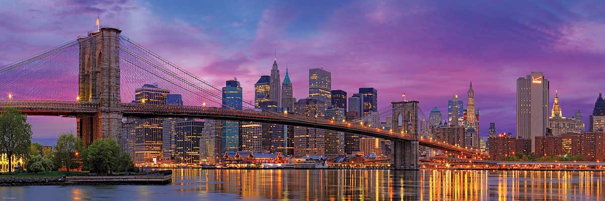 Puzzle Eurographics Puente de Brooklyn  1000 Piezas