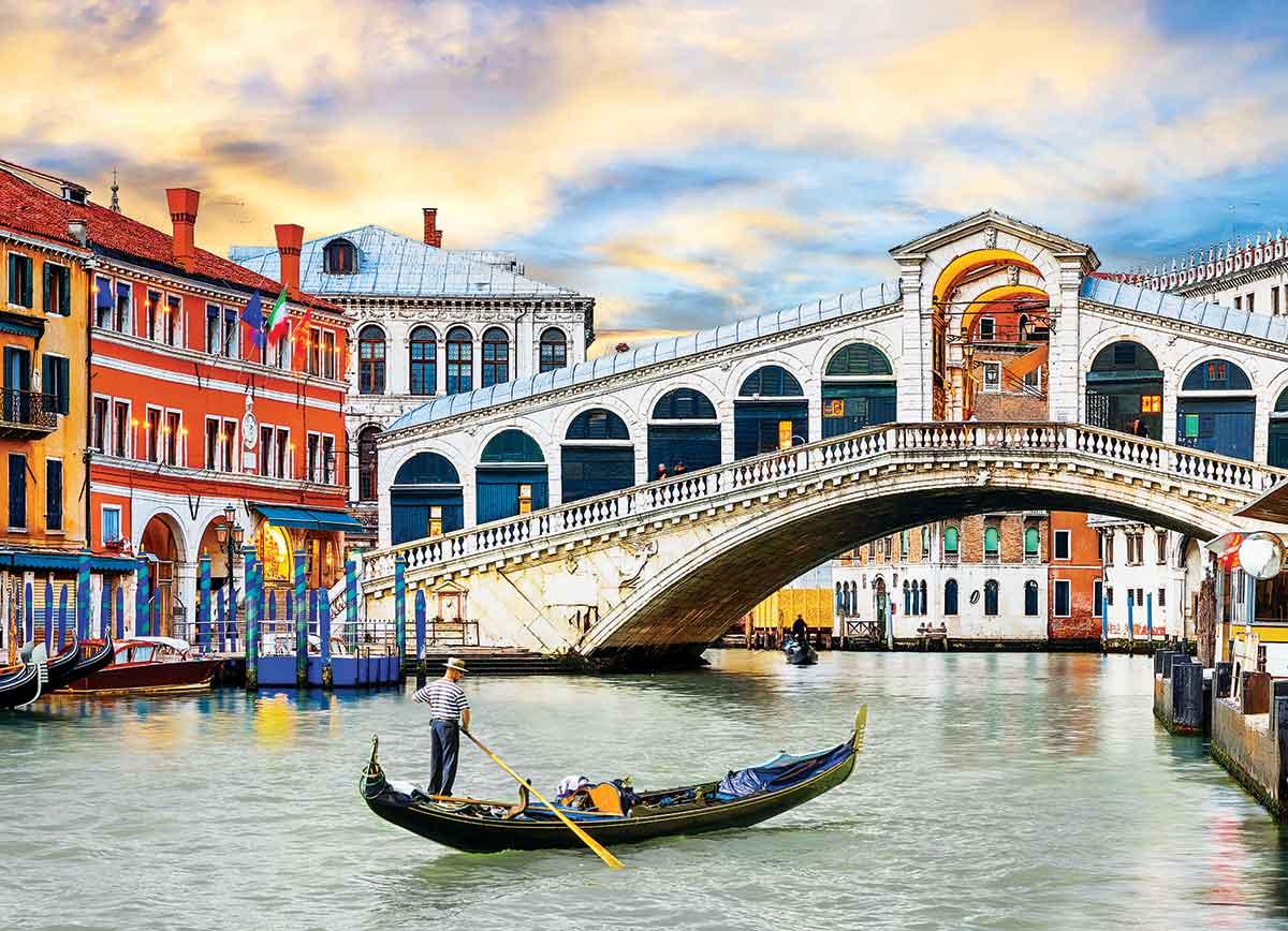 Puzzle Eurographics Puente Rialto, Venecia de 1000 Piezas