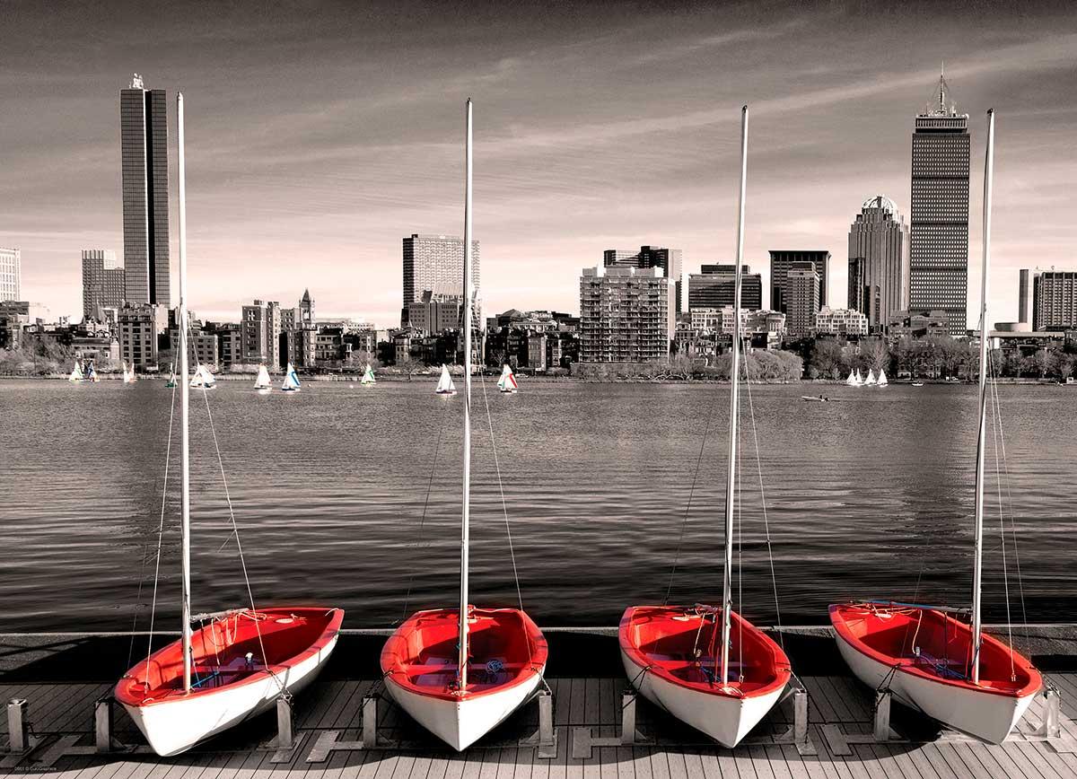 Puzzle Eurographics Puerto Deportivo de Boston de 1000 Piezas
