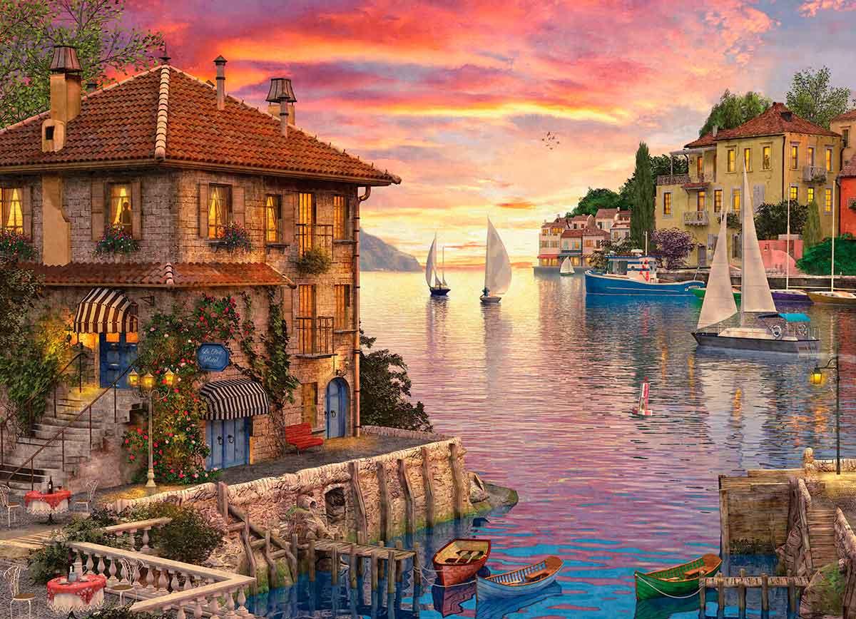 Puzzle Eurographics Puerto Mediterráneo de 1000 Piezas